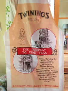 Twinings Apron comes with the tea tasting session