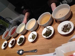 The six main varieties of tea all now suitably tested and tasted