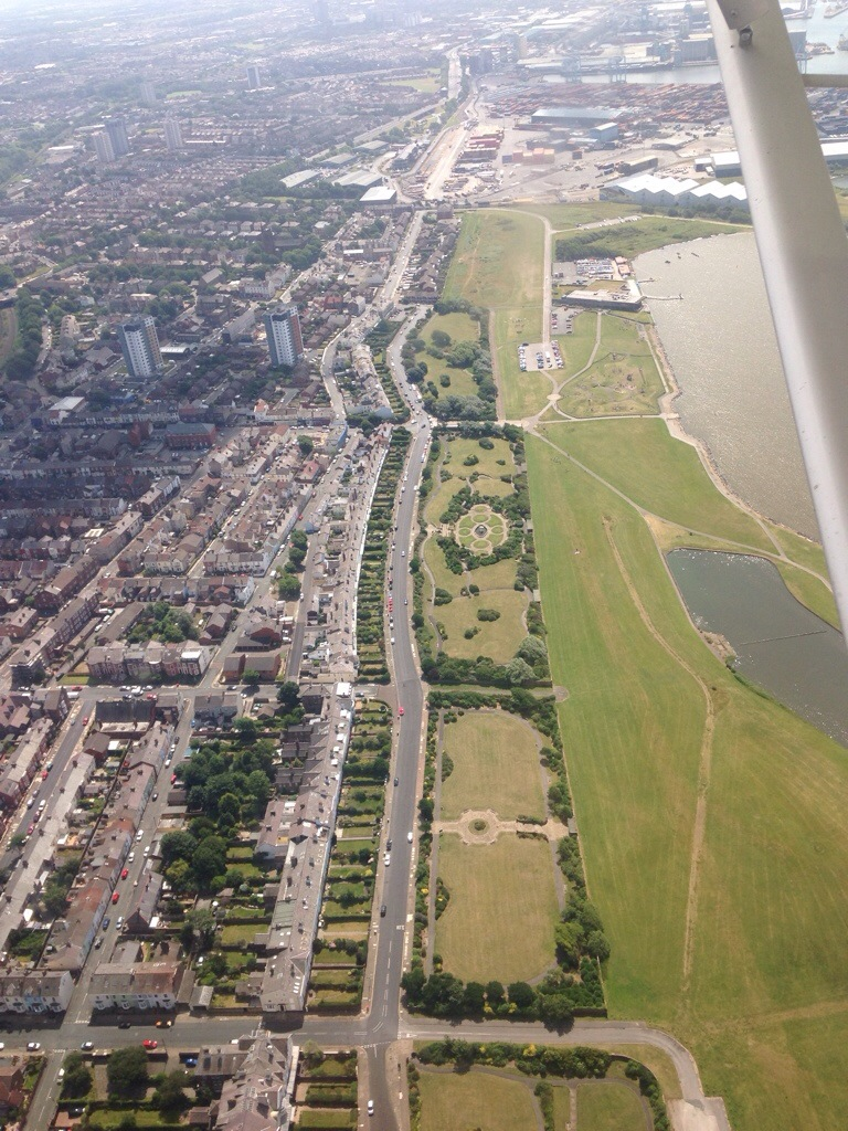 One of my favourite roads in the world, Beach Lawn, Cosby Marina and looking towards Bootle and Liverpool Docks